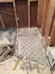 Original tile hiding under beige